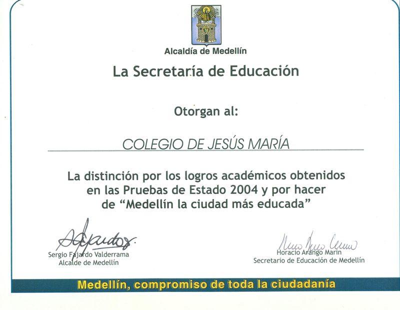 Distinción por resultados académicos en las pruebas de Estado.