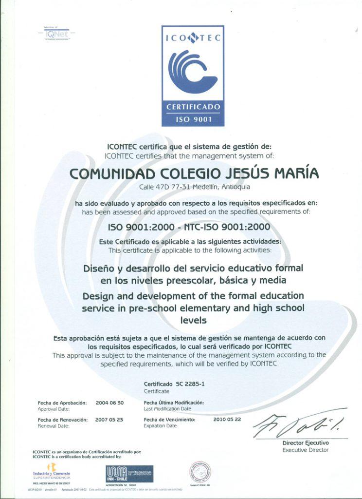 Gestión de la calidad NTC ISO 9001:2000.